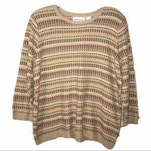 Alfred Dunner Sweater Longsleeve Size XL (M)